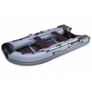 Лодка надувная Адмирал 305C D40, 39.5кг. 8л.с. цв. Сер.-Черн.