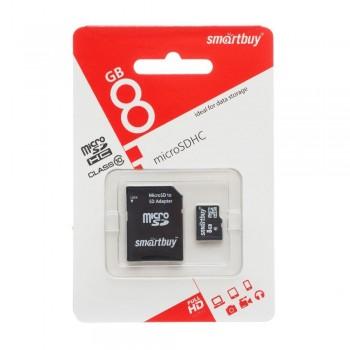 Карта MicroSDHC+SD адаптер 16 гб.