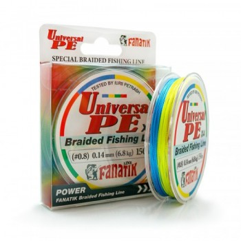 Плетёный шнур Fanatik Universal PE X4 150м 0.14мм.