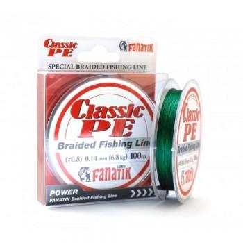 Плетёный шнур Fanatik Classik X4 100м 0.14мм.Green