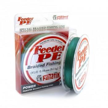 Плетёный шнур Fanatik Feeder PE X4 140м 0.16мм.Green