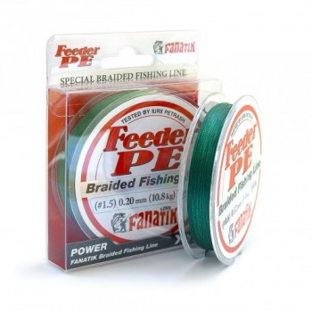 Плетёный шнур Fanatik Feeder PE X4 140м 0.20мм.Green