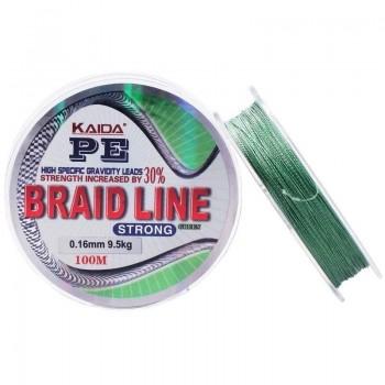 Плетёный шнур Kaida Braid Line 0.20 100м.